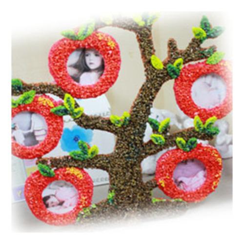 만들기 클레이로 만든 사과나무액자(5set)