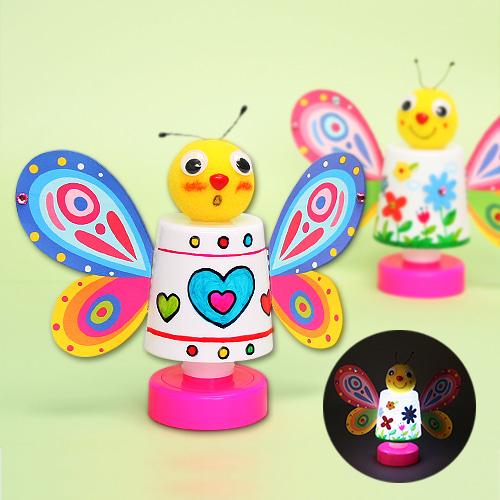 반제품,미니,스탠드,램프,나비램프,나비만들기,나비,봄,봄만들기,전등,무드등,나비스탠드,나비램프,전등만들기