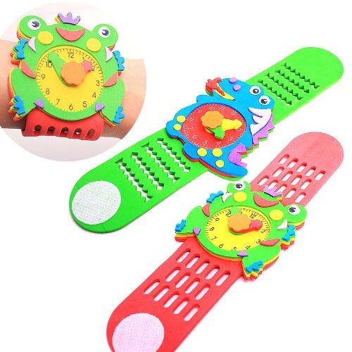 EVA 조립 장난감 손목시계