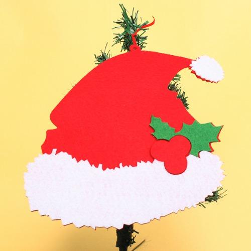 부직포 산타모자,크리스마스장식,산타모자장식