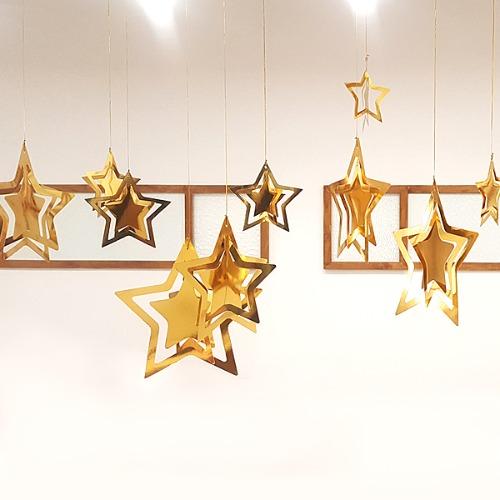 tp12145,별장식,가랜드,갈랜드,크리스마스,장식,인테리어,소품,12월,데코,파티,행사,별,금박,골드,모빌,가렌드