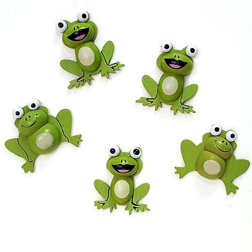 개구리 나무비즈 (6개 1세트)