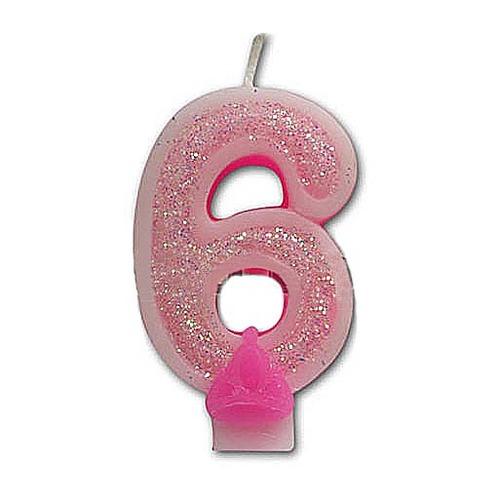 숫자초(핑크6)