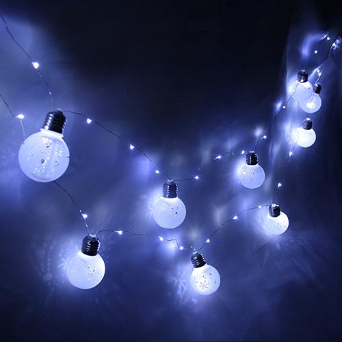 LED눈꽃가랜드(약 3m)